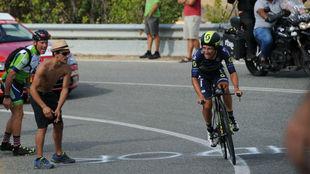 Esteban Chaves, durante la Vuelta Ciclista a España