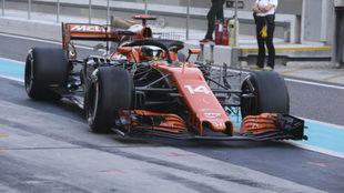 Fernando Alonso, en los test de Abu Dabi.