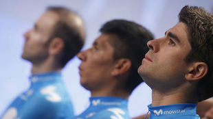 Mikel Landa, en primer término, con Nairo Quintana y Alejandro...