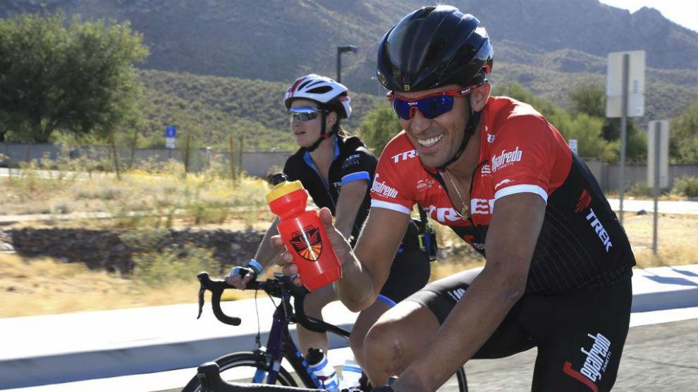 Contador, durante una carrera la pasada temporada