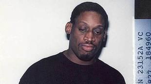 Imagen de Dennis Rodman en una de sus anteriores detenciones