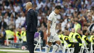 Zidane nunca tuvo a James en cuenta.