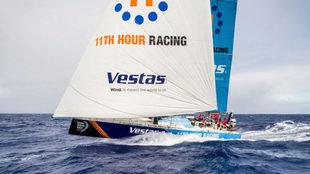 El Vestas, durante la cuarta etapa entre Melbourne y Hong Kong