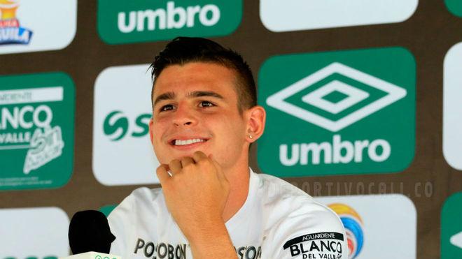 Benedetti en rueda de prensa. Foto: Deportivo Cali