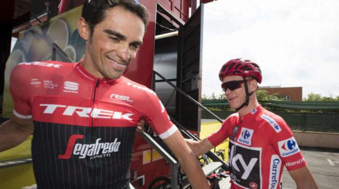 Contador y Froome en la pasada Vuelta a España