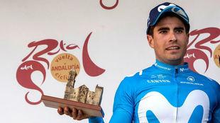 Mikel Landa, en el podio de la Vuelta a Andalucía