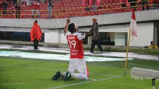 Wilson Morelo celebra su segundo gol