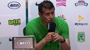 Jorge Almirón en rueda de prensa