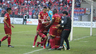 Rionegro llegó a ocho puntos en la Liga. Foto: @AguilasDoradasR