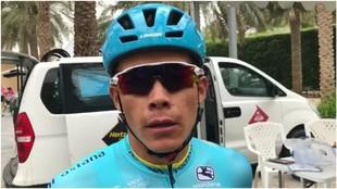 Miguel Ángel López, en el Tour de Abu Dabi