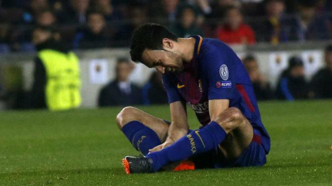 Barcelona sufre por Busquets: tres semanas fuera por fractura