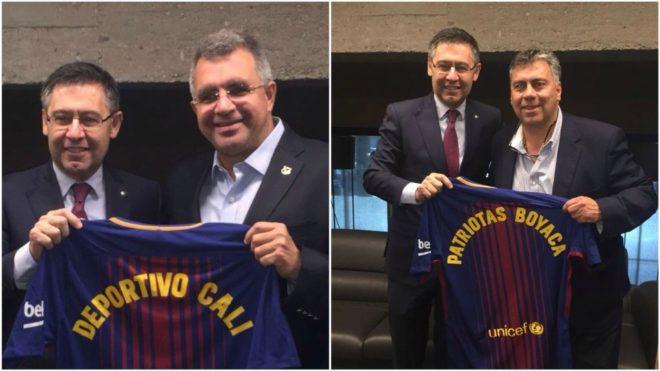 Deportivo Cali y Patriotas con el regalo del presidente Bartomeu