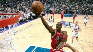 Jordan, en un partido de la NBA