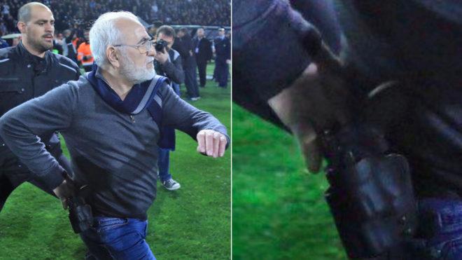 Sancionan al presidente del PAOK por entrar al campo con pistola