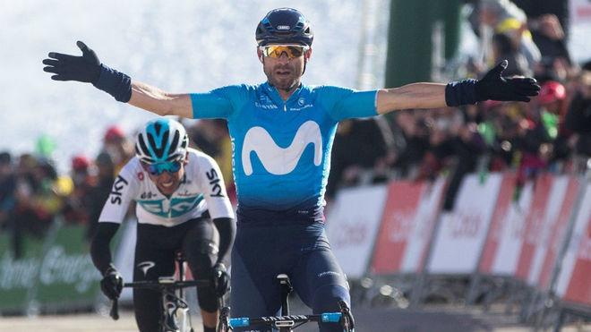 Valverde en la pasada Vuelta a Cataluña, carrera que ganó