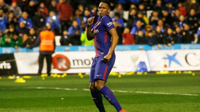 Yerry Mina podría tener minutos con Barcelona en Champions