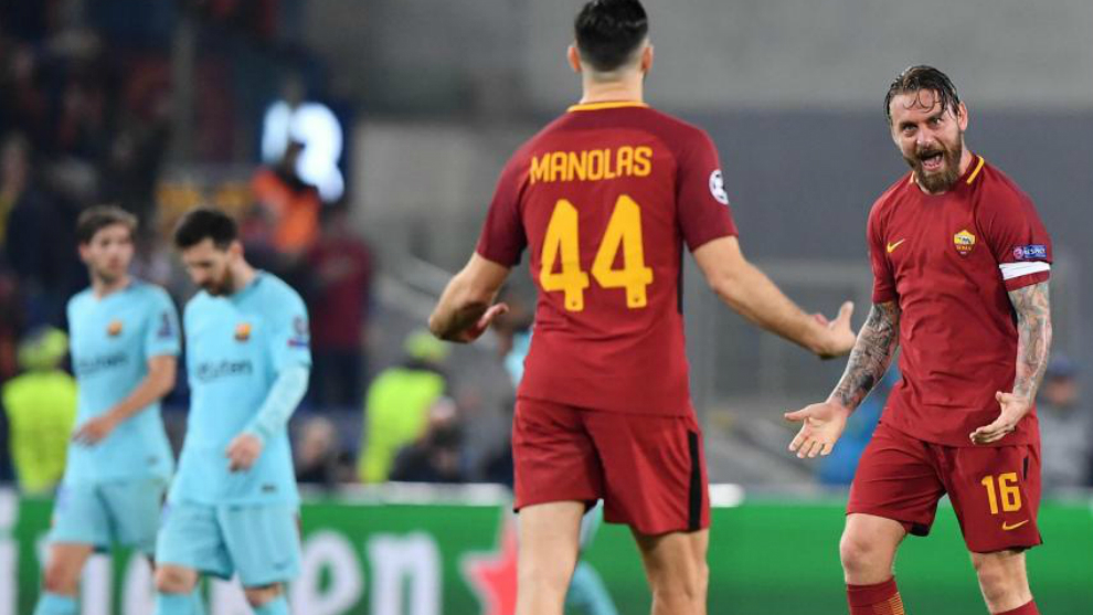 La Roma dio el golpe al eliminar al Barcelona