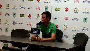 Pablo Richetti dio la rueda de prensa ante la ausencia de Jorge...