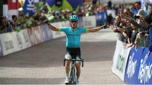 Pello Bilbao y su momento cumbre de victoria