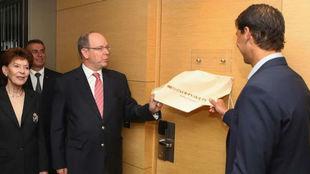 Nadal inaugura su suite con Alberto de Mónaco