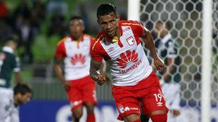 Wilson Morelo, tras anotar el gol del empate