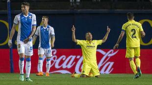 Bacca celebra su gol al Leganés