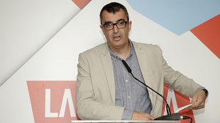 Javier Guillén, en la presentación de los maillots Santini de la...