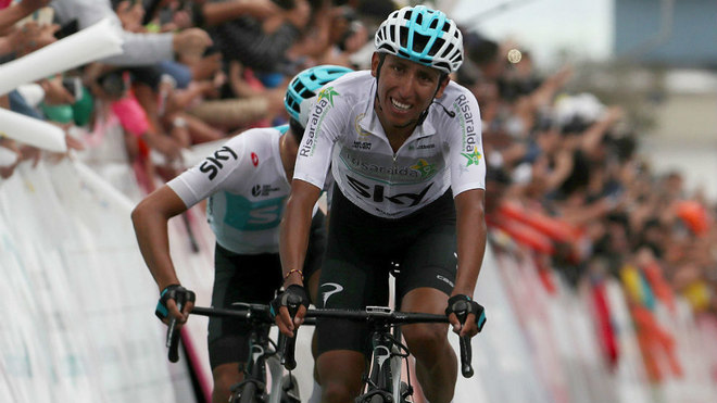 Egan Bernal con el Team Sky