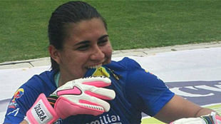 Daniela Solera, con la camiseta del Atlético Huila