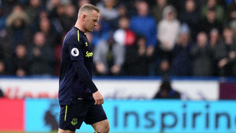 Rooney en un partido con el Everton.