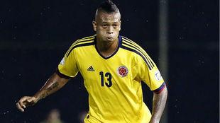 Fredy Guarín, durante un partido con la selección colombiana