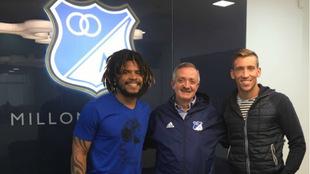 Román Torres, Enrique Camacho y Nicolás Vikonis