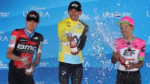 Dos colombianos en lo más alto del podio californiano: Egan Bernal y...