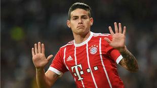 James, tras marcar con el Bayern en el Bernabéu