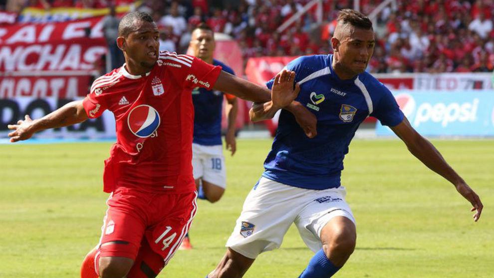 Alejandro Peñaranda, durante un partido con el América de Cali