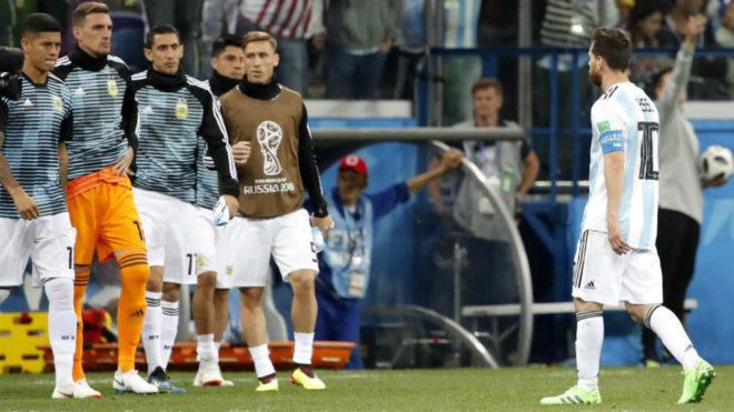Argentina cerca de la eliminación en el Mundial