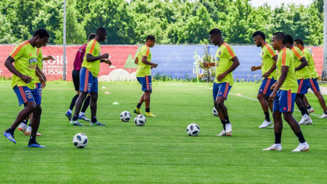 Colombia regresó a los entrenamientos en territorio ruso