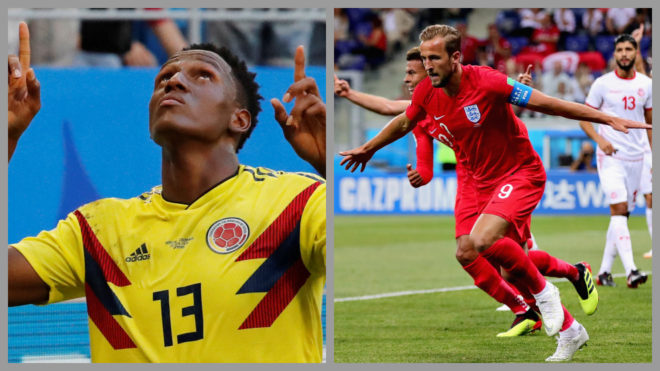 Inglaterra se sobrepone a Colombia y pasa a cuartos de final
