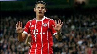 James pide perdón al público del Bernabéu tras marcarle con el...