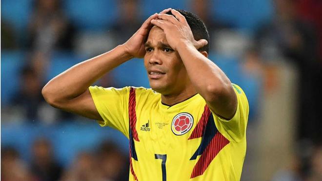 Bacca, con la selección colombiana en Rusia
