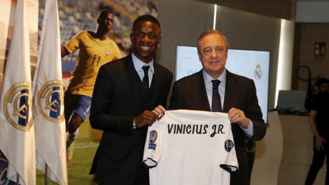 Vinícius Júnior fue presentado oficialmente como jugador del Real Madrid