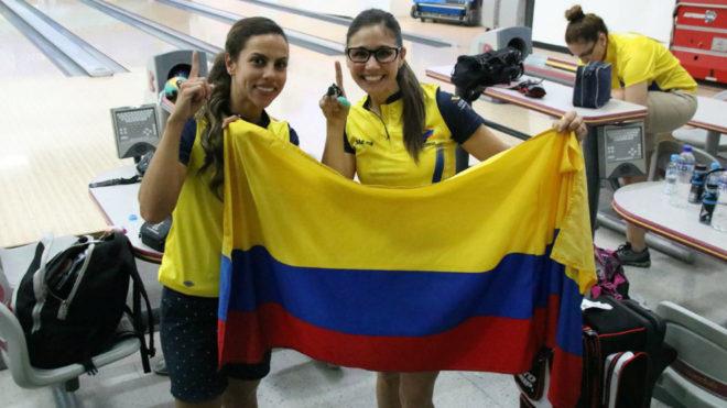 Clara Juliana Guerrero y Rocío Restrepo, felices por su oro en bolos...