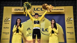 Thomas, con el maillot amarillo