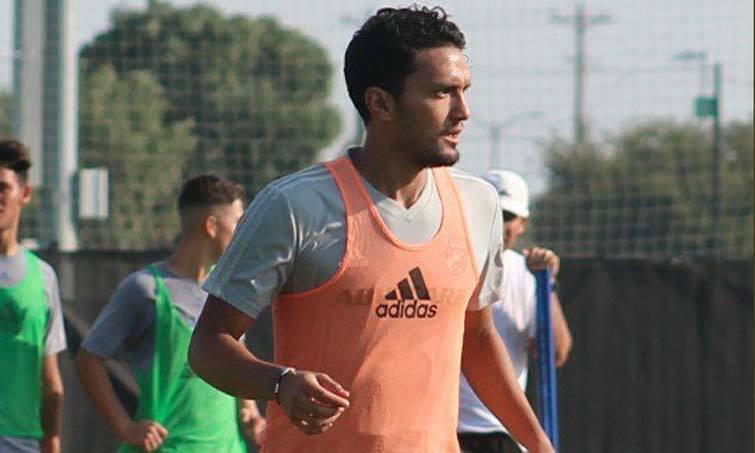Abel Aguilar en la práctica del pasado domingo de FC Dallas