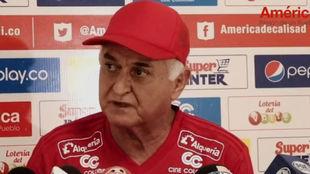 El entrenador atendió los medios en Cajascal