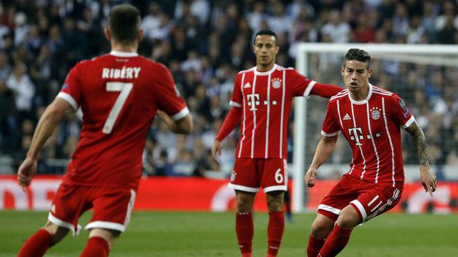 James durante el partido contra el Real Madrid de la pasada Champions.