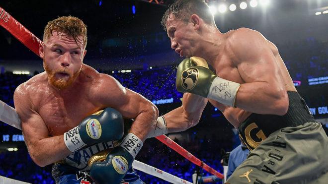La pelea de 2017 entre 'Canelo' y Golovkin quedó en tablas