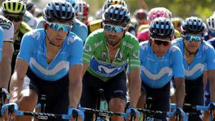 Valverde, Quintana, Carapaz en acción / Movistar Team