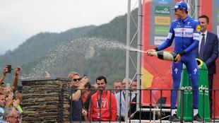 Mas y su podio en la etapa 20 de la Vuelta