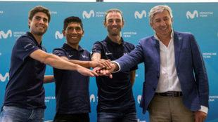 Landa, Nairo, Valverde y Unzué